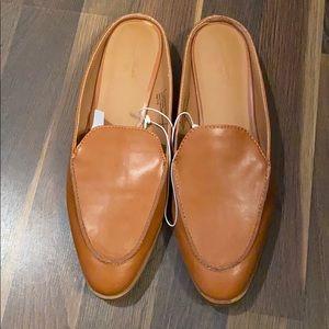 Cognac/Chestnut colored mules